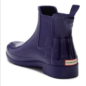 HUNTER Refined Gloss Chelsea rain boot new